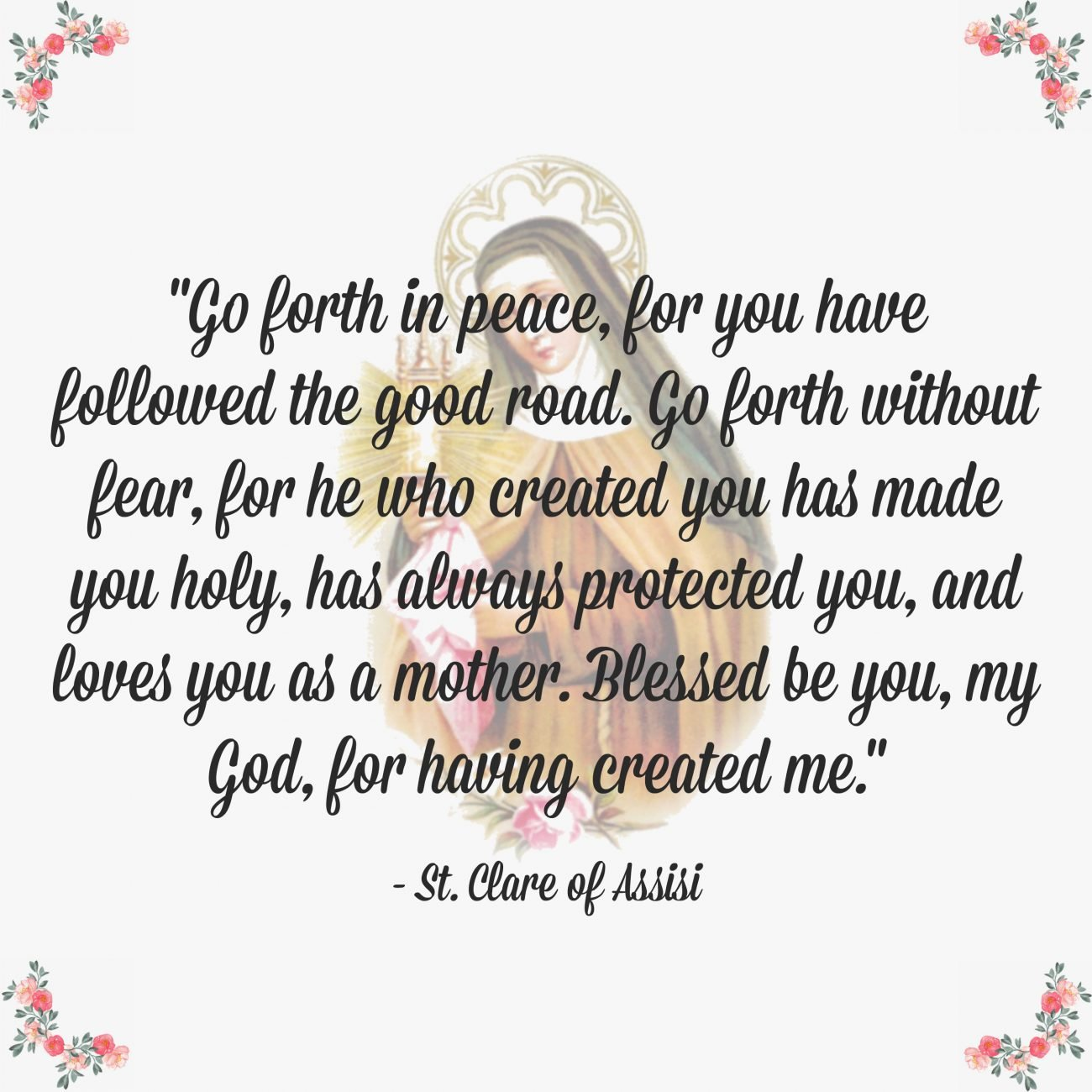 St. Clare of Assisi Quote