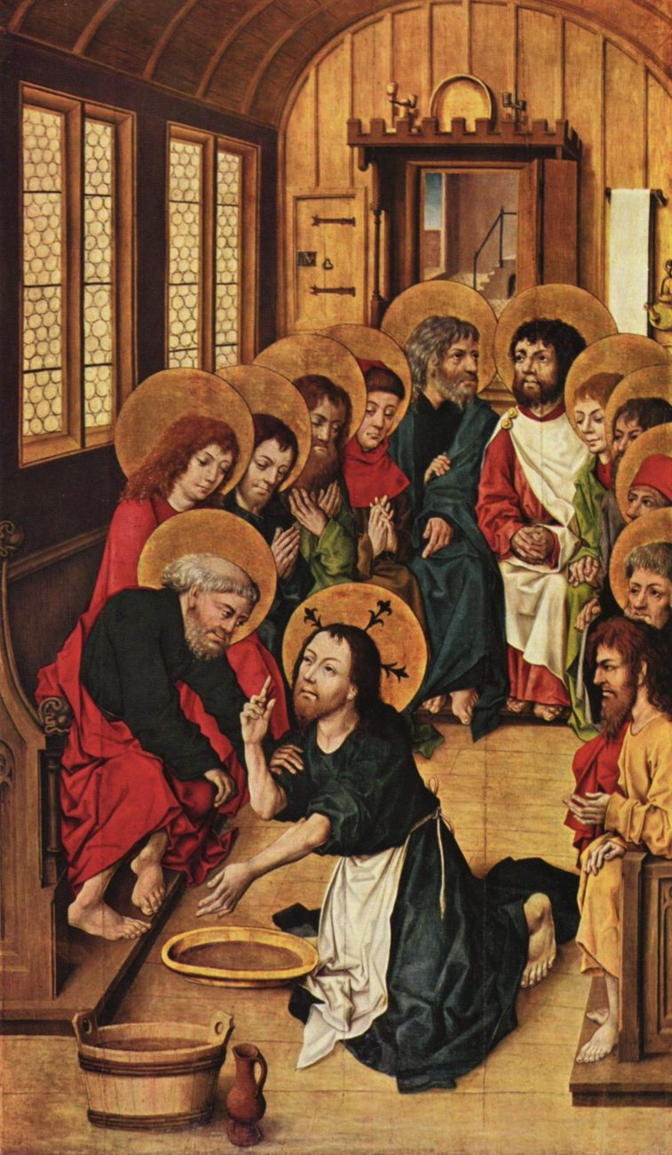 Christ Washing the Feet of the Apostles by Master of the Amsterdam Cabinet